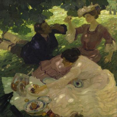 Picknick I, 1904-Leo Putz-Giclee Print