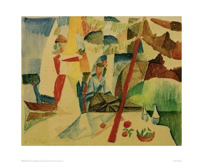 Picnic After Sailing-Auguste Macke-Giclee Print