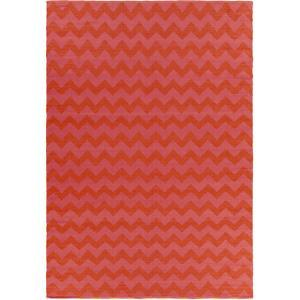 Picnic Area Rug - Hot Pink/Tangerine 5' x 8'