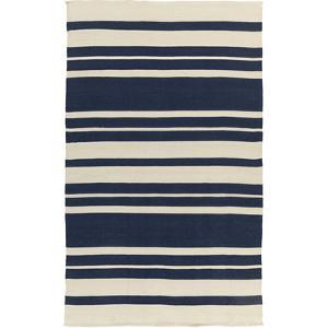 Picnic Area Rug - Navy/Ivory 5' x 8'