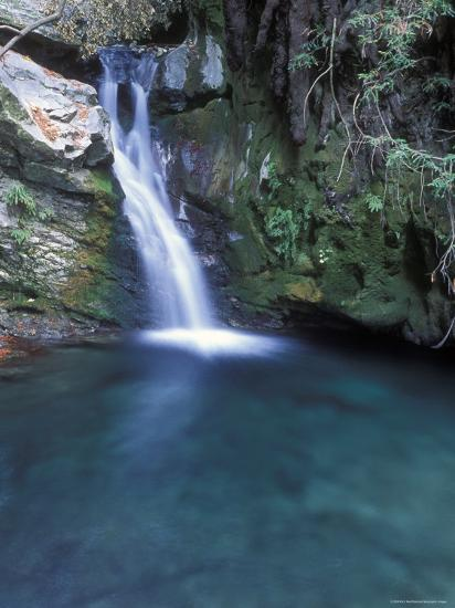 Pico Blanca Falls in Los Padres National Forest, California-Rich Reid-Photographic Print