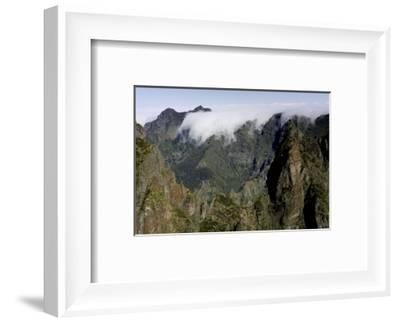 Pico do Areeiro mountain peak in Madeira, Portugal-David Santiago Garcia-Framed Photographic Print