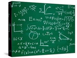 Math Formulas on School Blackboard Education by PicsFive