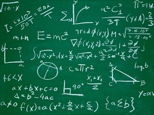 Math Formulas on School Blackboard Education by PicsFive