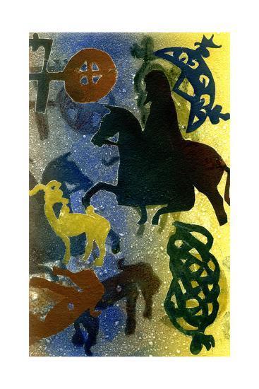 Pictish Horsemen-Gloria Wallington-Giclee Print