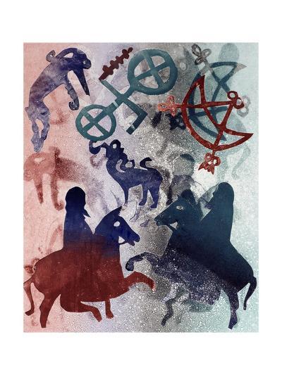 Pictish Riders, 1996-Gloria Wallington-Giclee Print