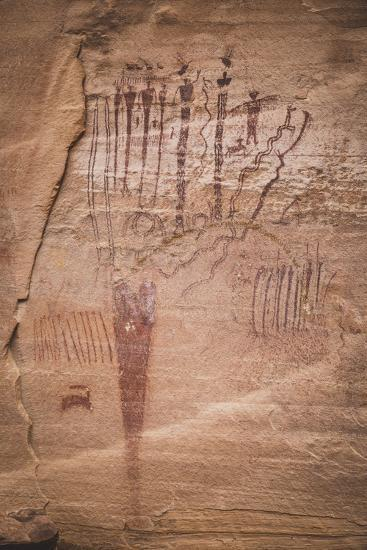 Pictographs At The Buckhorn Wash Panel, San Rafael Swell, Utah-Louis Arevalo-Photographic Print