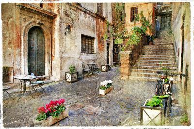 Pictorial Old Streets of Italy,Rome. Artistic Picture in Retro Style-Maugli-l-Photographic Print