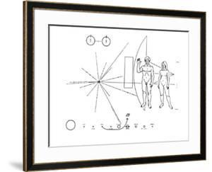 Pictorial Plaque of the Pioneer F Spacecraft Destined for Interstellar Space