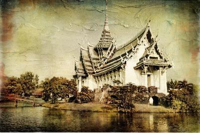 Pictorial Thailand - Artwork In Painting Style-Maugli-l-Art Print