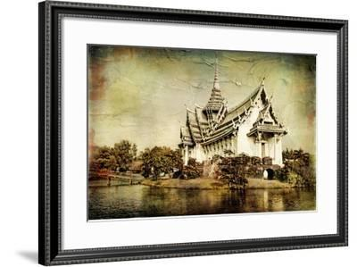 Pictorial Thailand - Artwork In Painting Style-Maugli-l-Framed Art Print