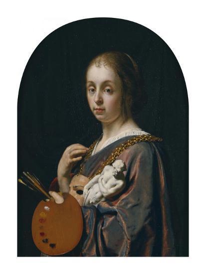 Pictura (An Allegory of Painting)-Frans van Mieris the Elder-Art Print