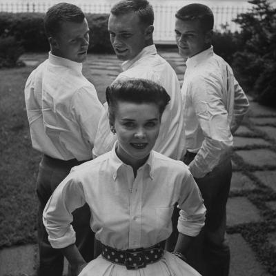 """Picture of an Woman with a """"Butch Haircut""""-Nina Leen-Photographic Print"""