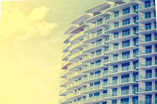 Picture of Buildings and Architecture Details in Miami Beach, Florida-Wilson Araujo-Photographic Print