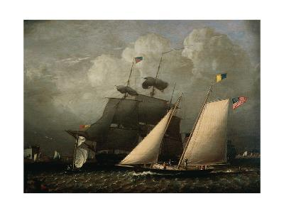 Picture of 'The Dream' Pleasure Yacht, 1839-Robert Salmon-Giclee Print