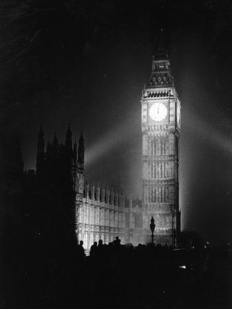 Big Ben Illuminated by Picture Post