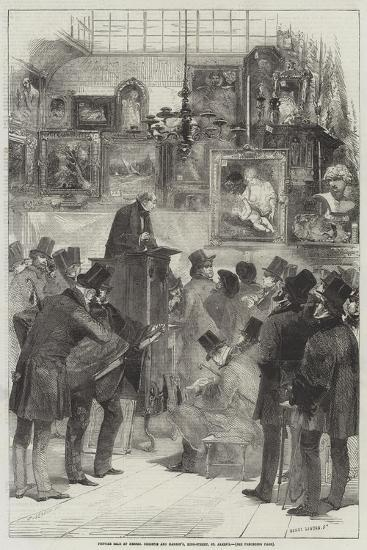 Picture Sale at Messers Christie and Manson's, King-Street, St James's-Edmond Morin-Giclee Print
