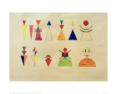 Pictures at an Exhibition Figures Image XVI, 1930-Wassily Kandinsky-Giclee Print