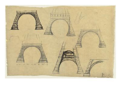 Pictures of the Decorative Arch of the Eiffel Tower-Alexandre-Gustave Eiffel-Giclee Print