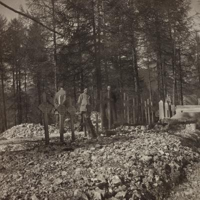 Pictures of War II: Italian Soldiers in the Cemetery of the Belvedere Pocol--Photographic Print