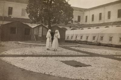 Pictures of War II: Red Cross Nurses in the Courtyard of the Orphanage, Vicenza--Photographic Print
