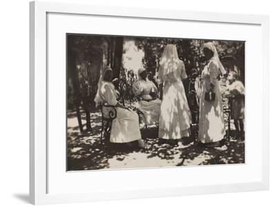 Pictures of War II: Red Cross Nurses Near the French Hospital in Vicenza--Framed Photographic Print