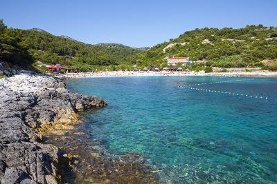 Picturesque Beach Near Hvar Town, Hvar, Dalmatia, Croatia, Europe-Doug Pearson-Photographic Print