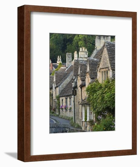 Picturesque Cottages in the Beautiful Cotswolds Village of Castle Combe, Wiltshire, England-Adam Burton-Framed Photographic Print