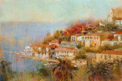 Picturesque Cove-Michael Longo-Art Print