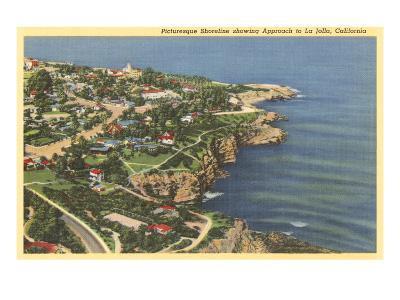 Picturesque Shoreline, La Jolla, California--Art Print