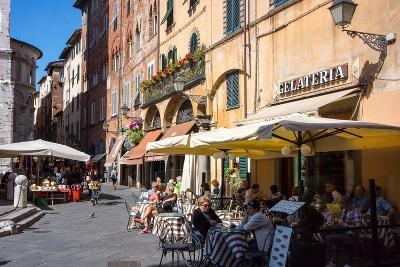 Picturesque Street in Lucca, Tuscany, Italy, Europe-Peter Groenendijk-Photographic Print