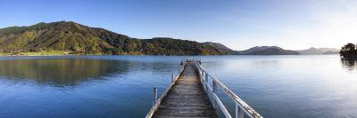 Picturesque Wharf in the Idyllic Kenepuru Sound, Marlborough Sounds, South Island, New Zealand-Doug Pearson-Photographic Print