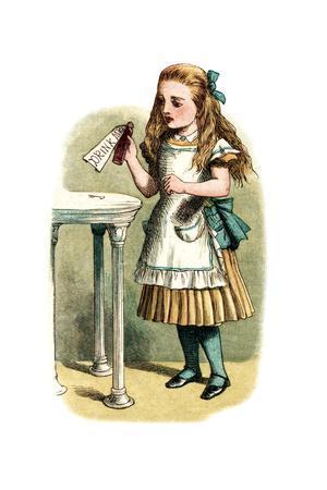 """Drink Me"" Alice in Wonderland by John Tenniel"