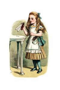 """Drink Me"" Alice in Wonderland by John Tenniel by Piddix"