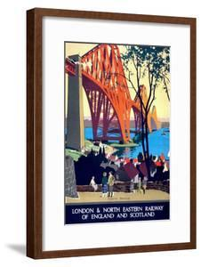 """Forth Bridge"" Vintage Travel Poster, London & North Eastern Railway of England & Scotland by Piddix"
