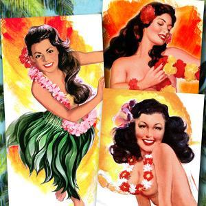 Hawaiian Pin-Ups by Piddix