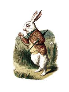 """I'm Late"" Alice in Wonderland White Rabbit by John Tenniel by Piddix"