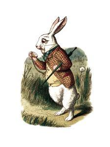 """I'm Late"" Alice in Wonderland White Rabbit by John Tenniel by Piddix"