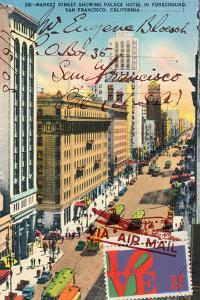 Market Street, San Francisco, Vintage Postcard Collage by Piddix