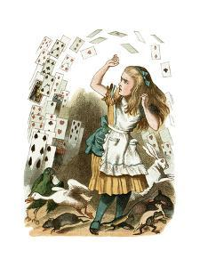 """Nothing But a Pack of Cards"" Alice in Wonderland by John Tenniel by Piddix"
