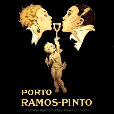Porto Ramos-Pinto, Vintage French Advertisement Poster by Rene Vincent