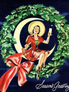 """Seasons Greetings"" Retro Christmas Beer Advertisement by Piddix"