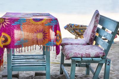 Piece of Furniture, Brightly, Beach Bar, Thailand, Beach-Andrea Haase-Photographic Print