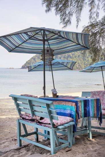 Piece of Furniture, Brightly, Runable Aground, Thailand, Beach-Andrea Haase-Photographic Print