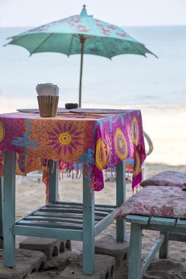 Piece of Furniture, Screen, Brightly, Beach Bar, Thailand, Beach-Andrea Haase-Photographic Print