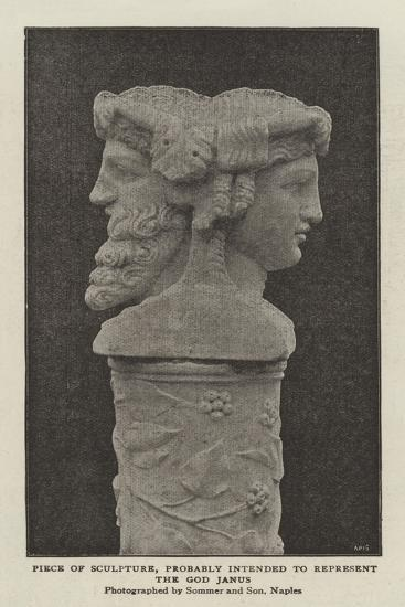 Piece of Sculpture, Probably Intended to Represent the God Janus--Giclee Print