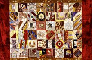 Pieced and Appliqued Contained Crazy Quilt, American, Late 19th Century