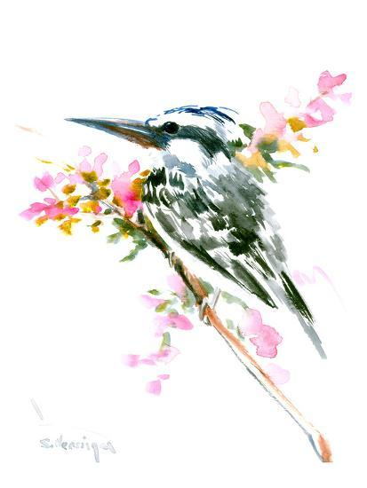 Pied Kingfisher-Suren Nersisyan-Art Print
