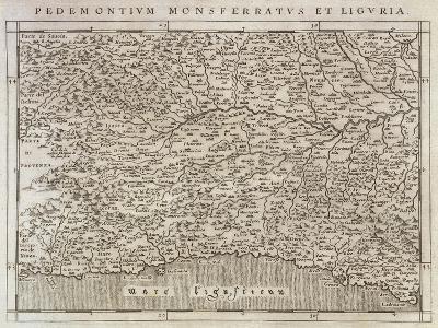 Piedmont, Monferrato and Liguria Region, from Descrittione Della Regione Piemontese--Giclee Print