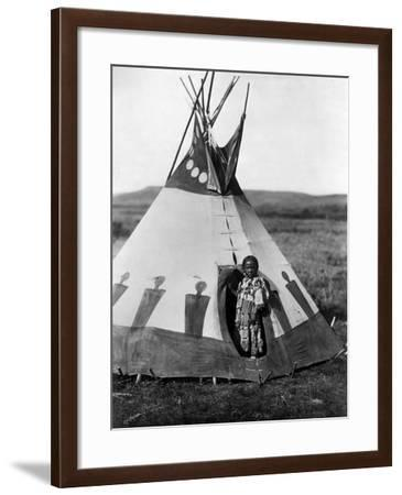 Piegan Girl, 1910-Edward S^ Curtis-Framed Giclee Print